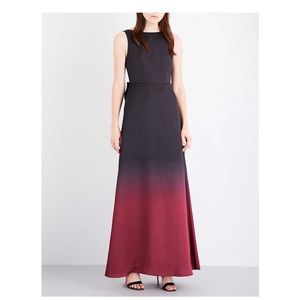 Ted Baker Delena Ombre Maxi Dress sz 10